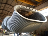 WATER COOLED EXHAUST GAS DUCT